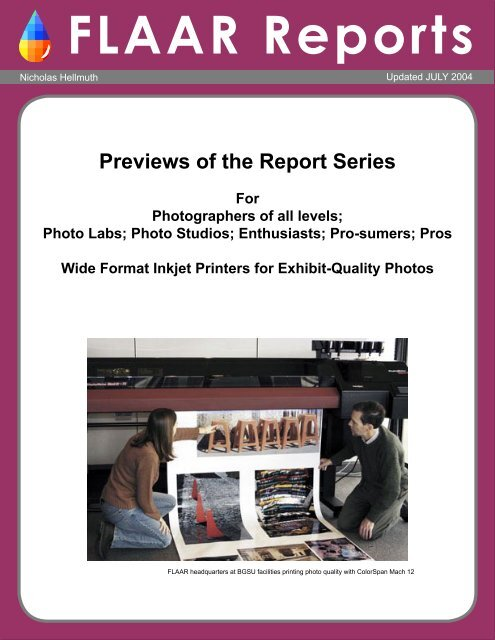 Previews Of The Report Series - Wide-format-printers.org