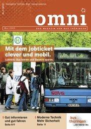 Mit dem Jobticket clever und mobil. - Bus Thüringen