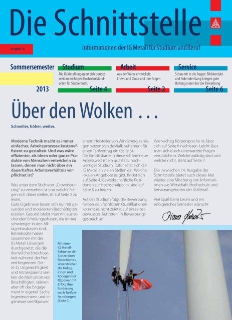 Über den Wolken … - Hochschulinformationsbuero.de
