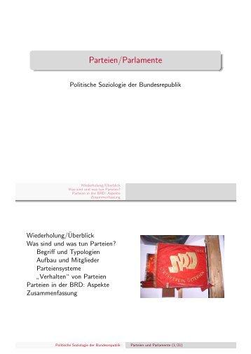 Parteien/Parlamente - Kai Arzheimer
