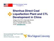 Shenhua Direct Coal Liquefaction Plant and CTL Development in ...