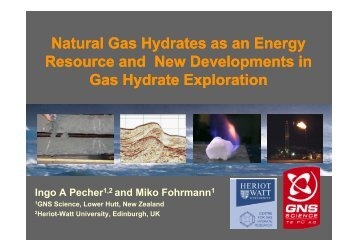 Natural Gas Hydrates as an Energy Resource and New ... - CCOP