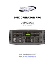 DMX OPERATOR PRO User Manual - American Musical Supply