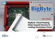 BigByte: Cloud Hosting Helps Expand Service to ... - Softengine Inc.