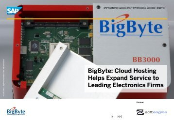 BigByte: Cloud Hosting Helps Expand Service to ... - Softengine Inc.