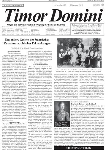 Das andere Gesicht der Staatskrise: Zunahme ... - Christiana-Verlag