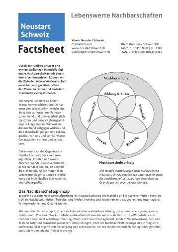 Factsheet Verein Neustart Schweiz