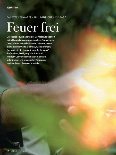 Feuer frei - Wild und Hund