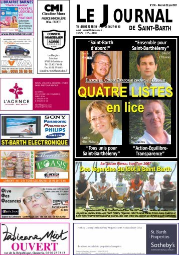 QUATRE LISTES en lice QUATRE LISTES en lice - Journal de Saint ...