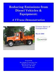 Reducing Emissions from Diesel Vehicles & Equipment - Northeast ...