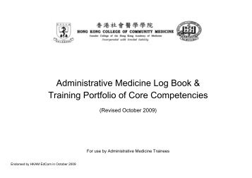 Log Book and Training Portfolio - The Hong Kong College of ...