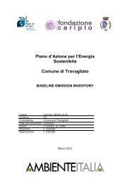 Inventario Base delle Emissioni in Atmosfera (BEI) - Comune di ...