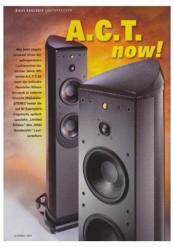 Stereo 01-2010 WB ACT Test - Wilson Benesch