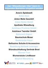 Ilse Theuer Trafik Hannes Stadler Trafik Ingrid Spring ... - Wieselburg