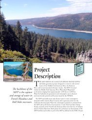 Overview of Project Description - Middle Fork American River ...