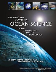 Charting the Course for Ocean Science in the ... - The White House