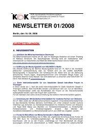 Newsletter 1/2008 - KOK