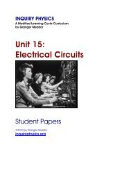Unit 15: Electrical Circuits - Student Papers