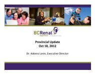 Provincial Update Oct 18, 2012 - BC Renal Agency