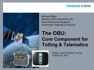 The OBU: – Core Component For Tolling & Telematics