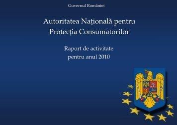 raportul de activitate - ANPC