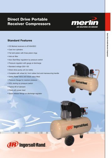 Direct Drive Portable Receiver Compressors - AE Industrial