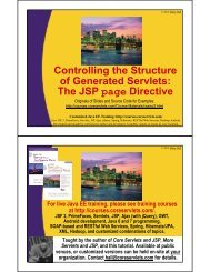 Controlling the Structure of Generated Servlets: The JSP page ...