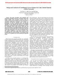 Design and Analysis of Coordinated Access Schemes for Code ...