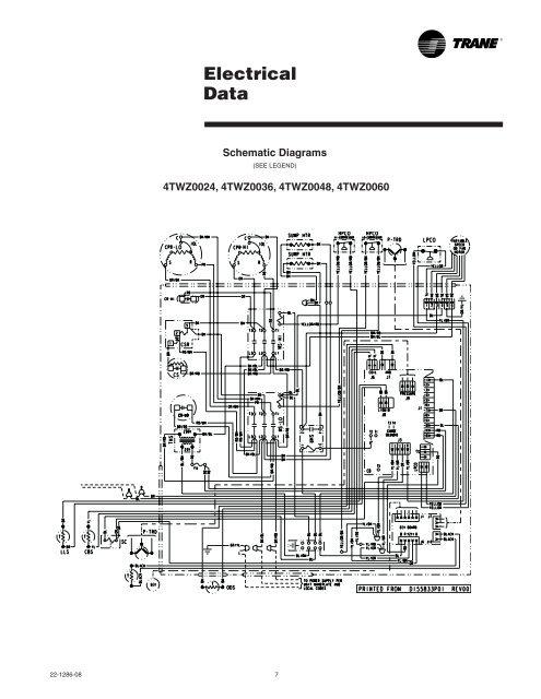 trane heat pump wiring diagram schematic  chevrolet
