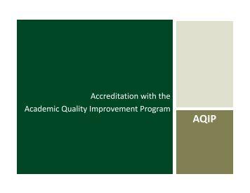 AQIP - Lake Erie College