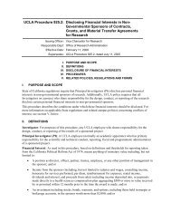 UCLA Procedure 925.2: Disclosing Financial Interests in Non ...