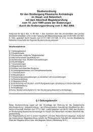 Studienordnung für den Studiengang Klassische Archäologie ... - ZSB