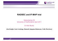 RADSEC and IF-MAP trial - Janet