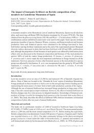 The impact of inorganic fertilizers on floristic composition of hay ...
