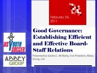 Good Governance: Establishing Efficient and ... - US Youth Soccer