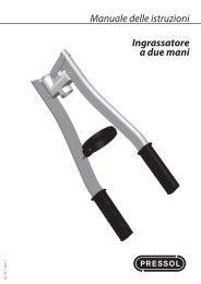 Manuale delle istruzioni Ingrassatore a due mani - Pressol