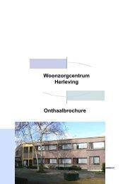 Onthaalbrochure Woonzorgcentrum Herleving - OCMW Zwijndrecht