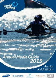 2013 Annual Media Guide - World Rowing