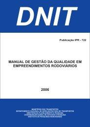 Manual de Gestão da Qualidade em Empreendimentos ... - IPR - Dnit