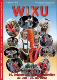 30. Original Int. Lederhosentreffen 27. Juli – 29 ... - WIKU-Homepage