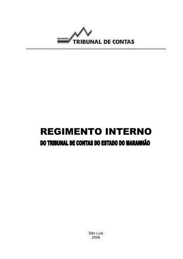 REGIMENTO INTERNO - Tce.ma.gov.br
