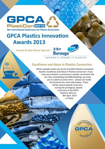 GPCA Plastics Innovation Awards 2013 - Rowad International ...