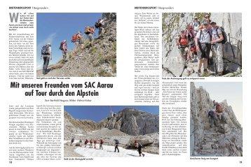 Mit dem SAC Aarau durch den Alpstein - DAV Reutlingen
