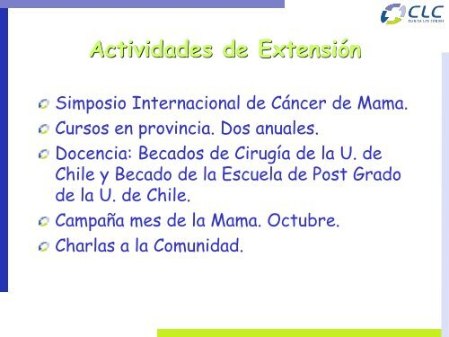 Unidades de patología mamaria - Sociedad Chilena de Mastología