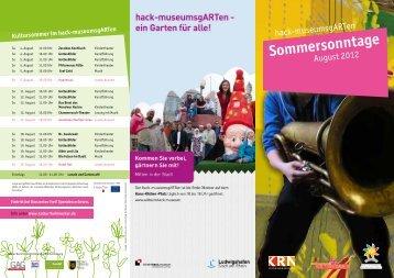 Sommersonntage - Wilhelm-Hack-Museum