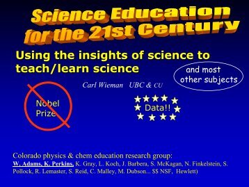 Using the insights of science to teach/learn science