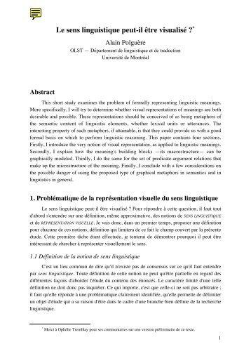 PDF (216KB) - Observatoire de linguistique Sens-Texte (OLST ...