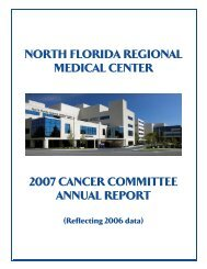 cancer registry report - North Florida Regional Medical Center