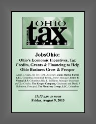 JobsOhio - MEC Seminars & Conferences