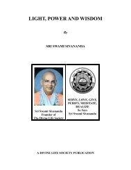 Light, Power and Wisdom - The Divine Life Society